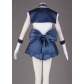Sailor Moon Tenoh Haruka Cosplay Costume and Wig Free Shipping for Halloween and Christmas